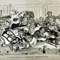 Grand tableau. – Dinner scene at a Philadelphia hotel. – Slaughter of the innocents.