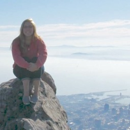 On top of Table Mountain in Cape Town, South Africa