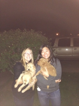 My dear friend Rachel and, of course, puppies.